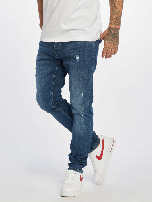 DEF Slim Fit Jeans Skom modrá