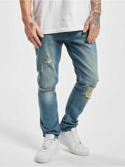 DEF Slim Fit Jeans Castor modrá