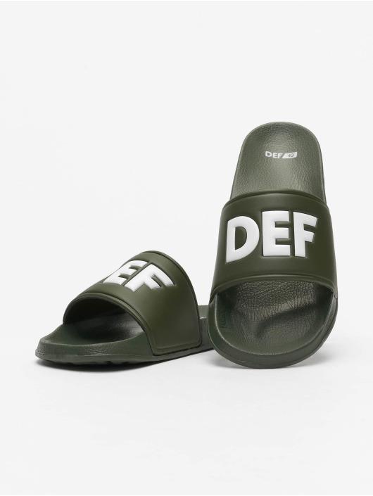 DEF Slipper/Sandaal Defiletten olijfgroen