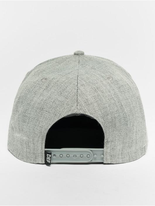 DEF Snapback Caps Logo grå