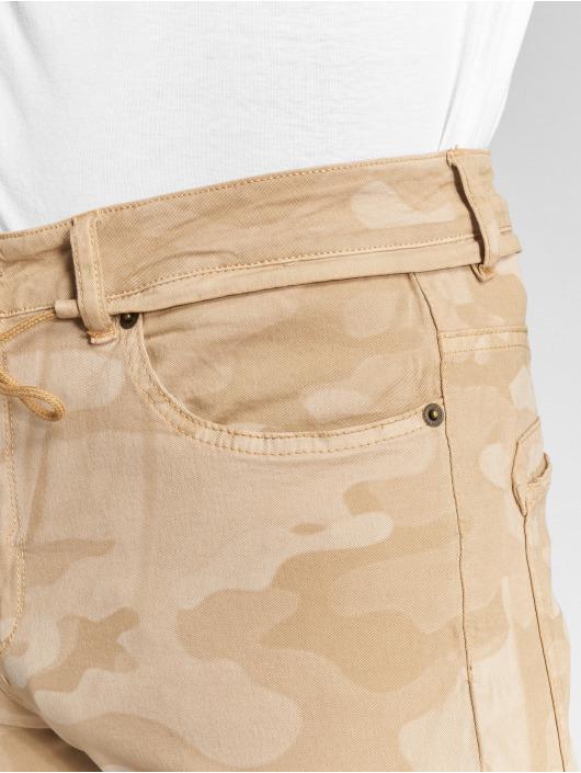 DEF Spodnie Chino/Cargo Tim bezowy