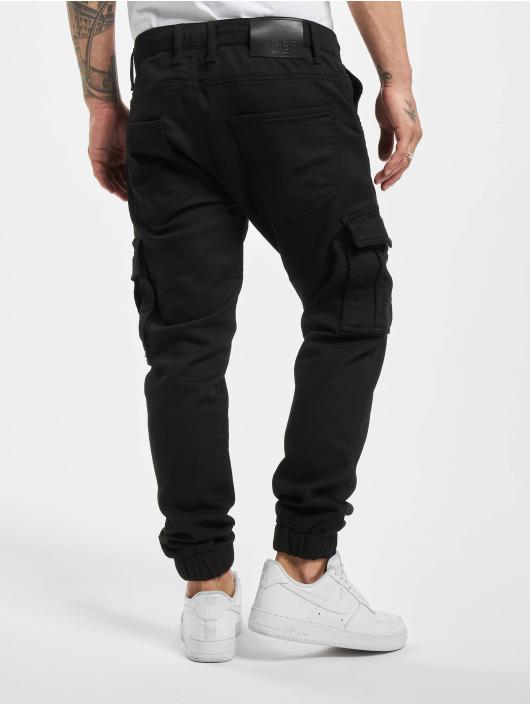 DEF Spodnie Chino/Cargo Steven czarny