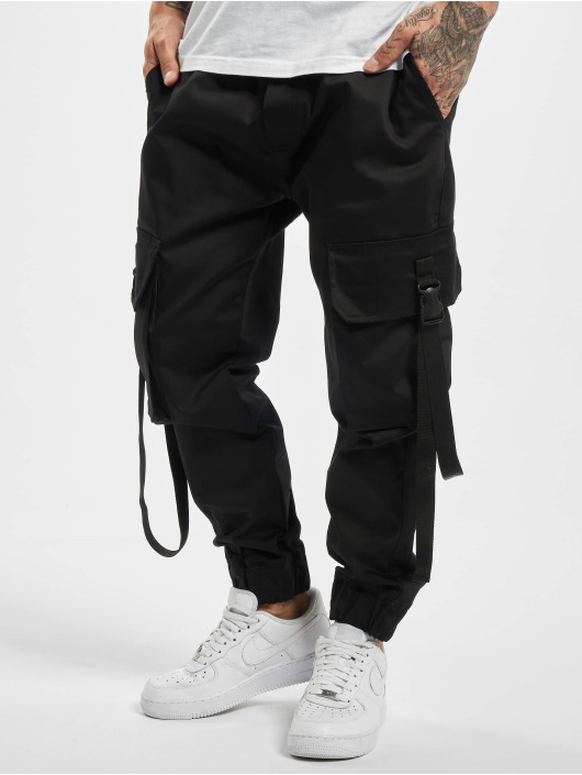 DEF Spodnie Chino/Cargo Nepu czarny