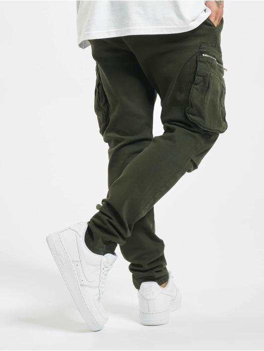 DEF Spodnie Chino/Cargo Kuro zielony
