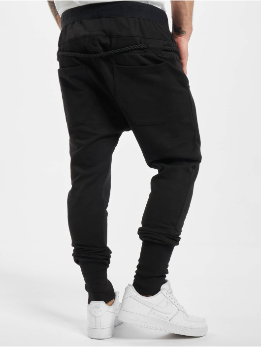 DEF Spodnie do joggingu Thick Drawstring czarny