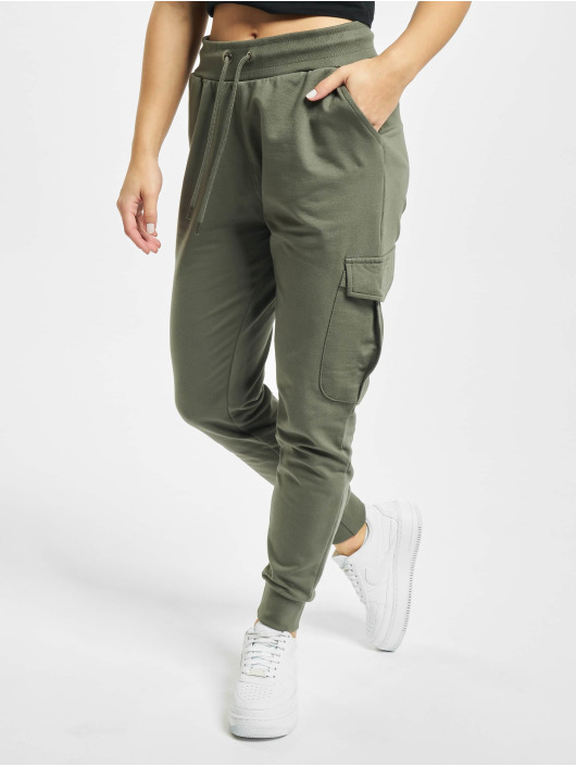 DEF Spodnie do joggingu Truddy oliwkowy