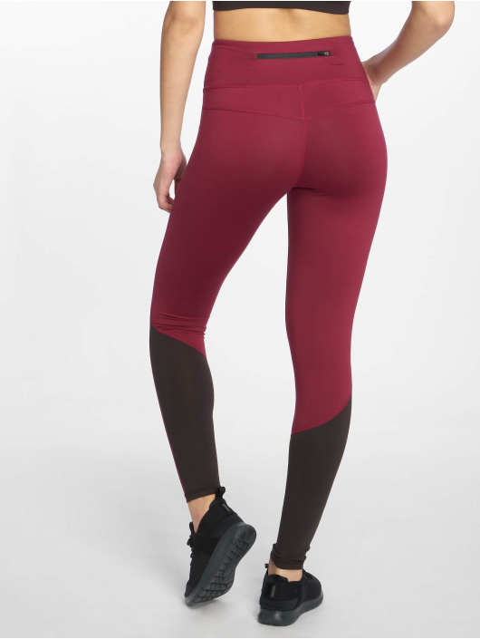 DEF Sports Sportleggings Bele red