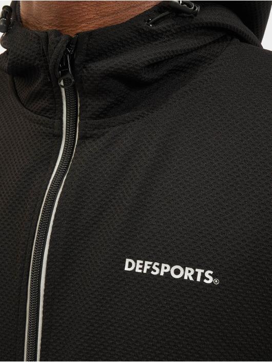 DEF Sports Zip Hoodie Vitas schwarz
