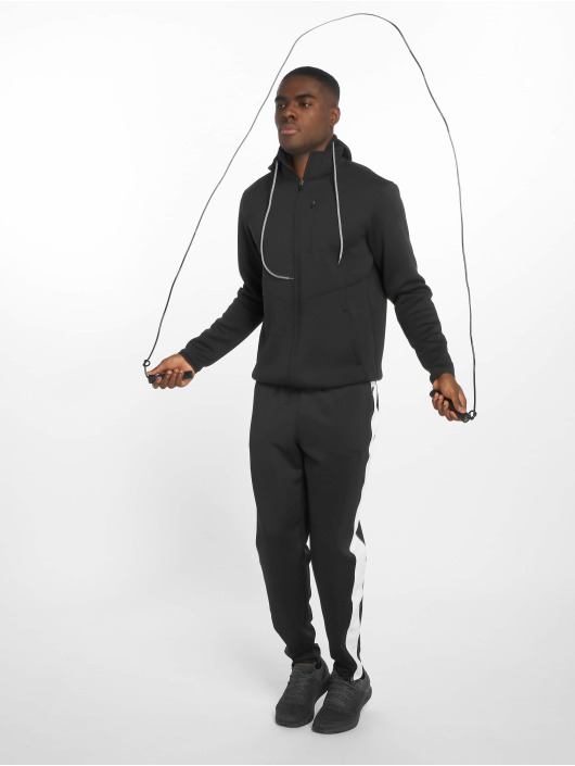 DEF Sports Zip Hoodie Bizier schwarz