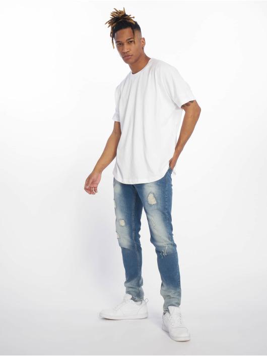 DEF Straight Fit Jeans Wash blå