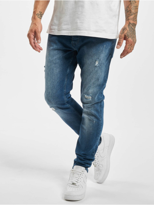 DEF Straight Fit Jeans Greg blå