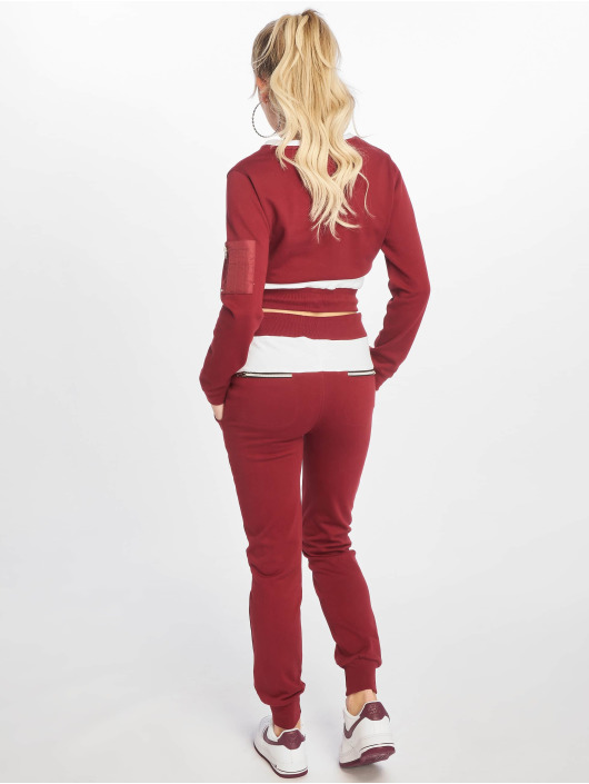 DEF Suits Sweat Suit red