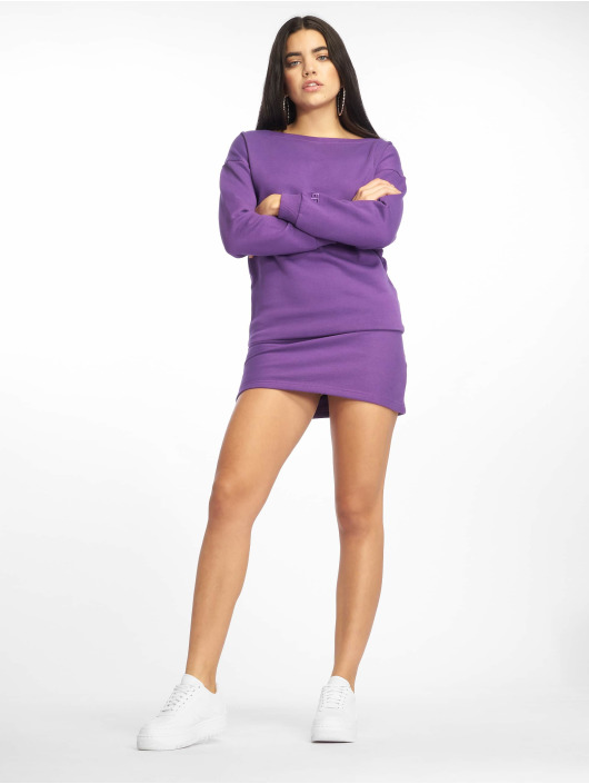 DEF Sukienki Classico fioletowy