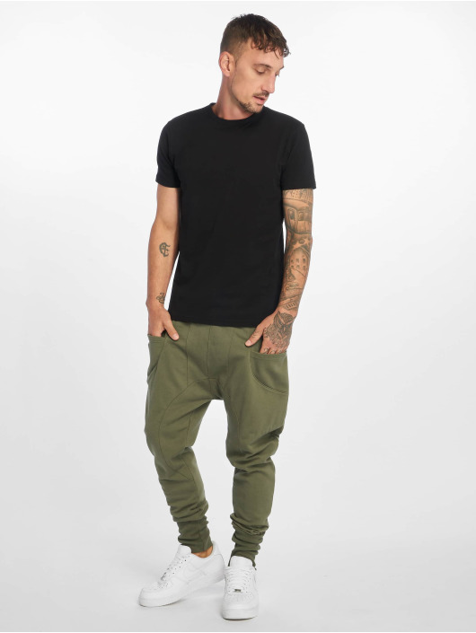 DEF Sweat Pant Birds olive