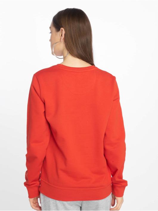 DEF Swetry Basic czerwony