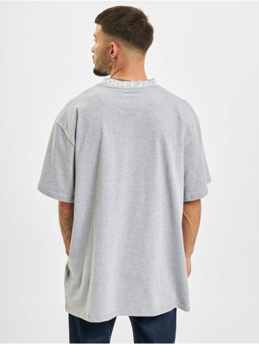DEF T-Shirt Basic Rib grau