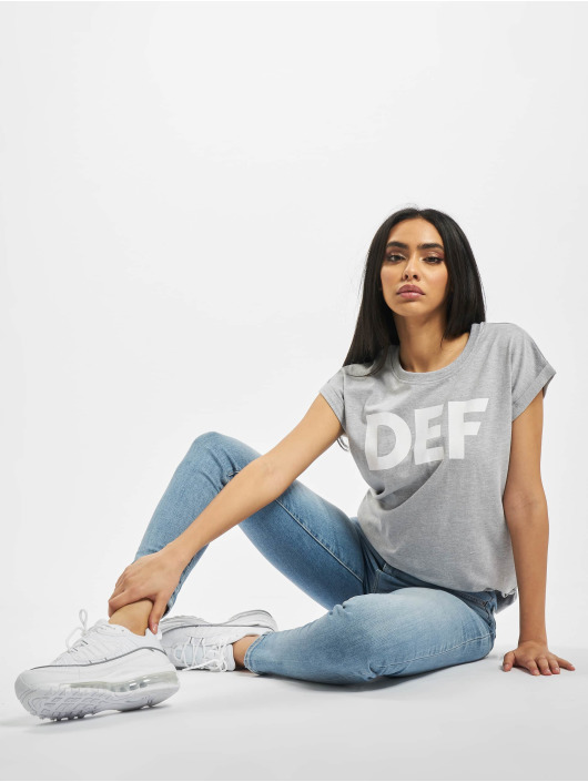 DEF T-Shirt Sizza gris