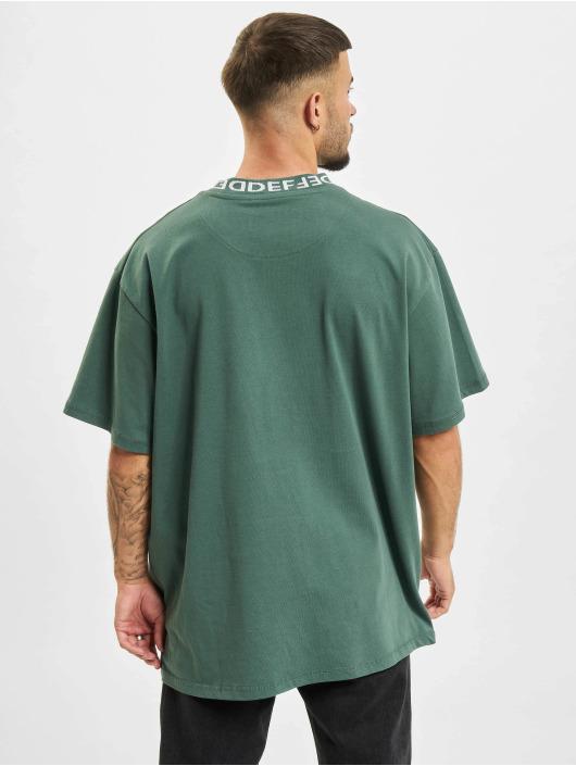 DEF T-Shirt Basic Rib grün
