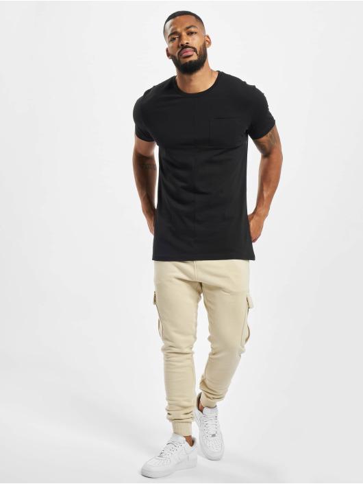 DEF T-Shirt Europa schwarz