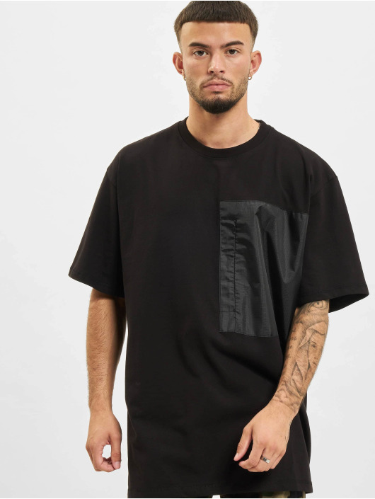 DEF T-Shirt Basic Pocket schwarz