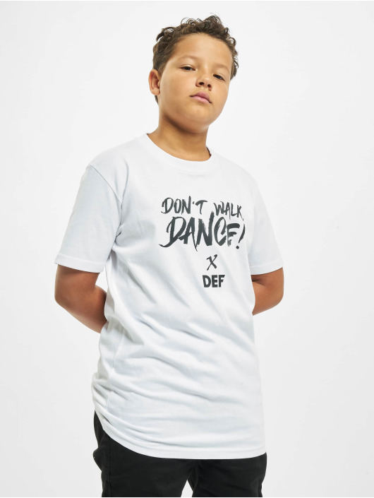 DEF T-Shirt Don't Walk Dance white