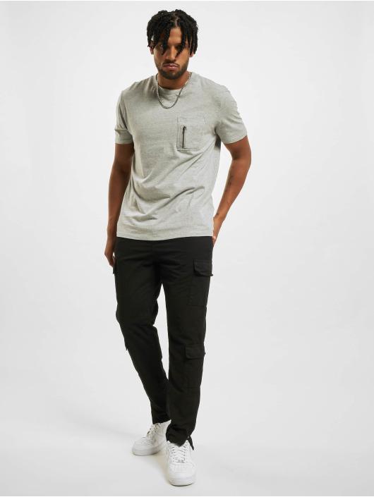 DEF T-shirts Happy grå