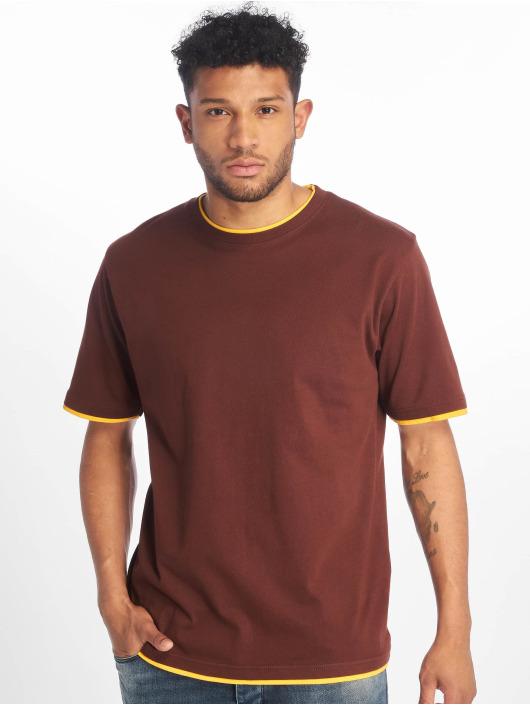 DEF T-Shirty Basic brazowy