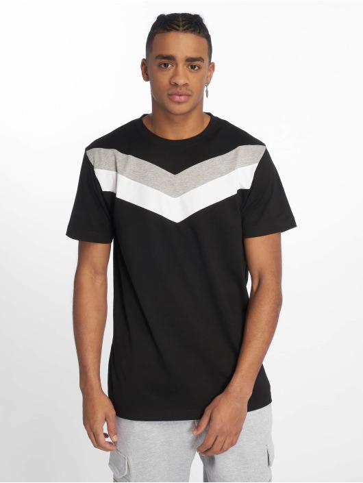 DEF T-Shirty Chevron czarny
