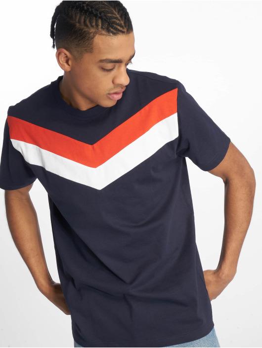 DEF T-Shirty Chevron niebieski