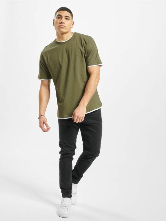 DEF T-Shirty Basic oliwkowy