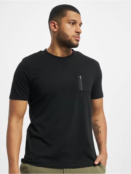 DEF T-skjorter Happy svart