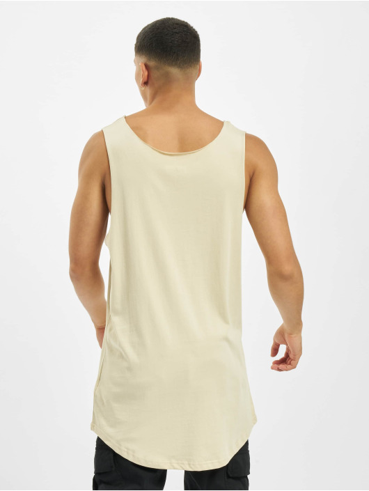 DEF Tank Tops Basic Long bezowy
