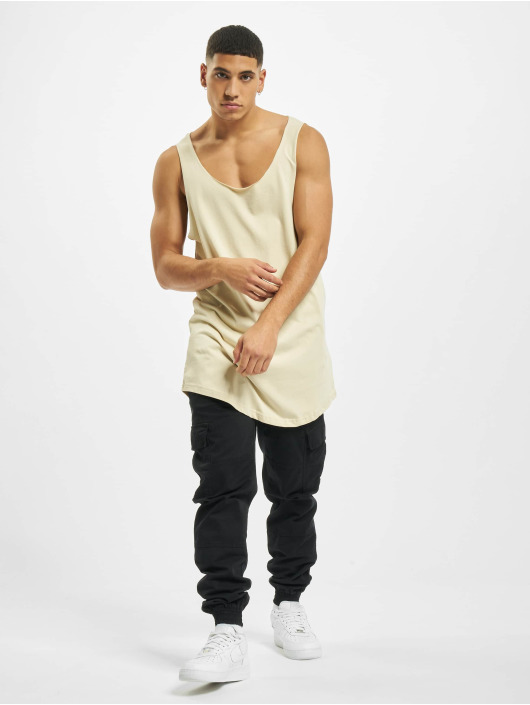 DEF Tanktop Basic Long beige