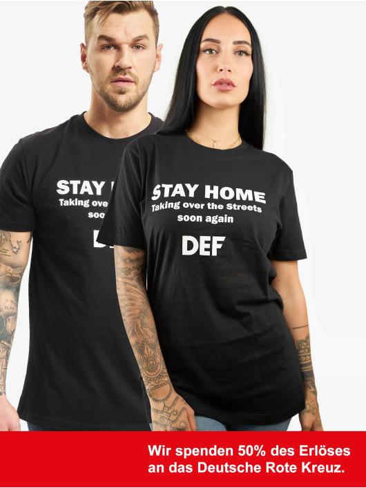 DEF Tričká Stay Home èierna