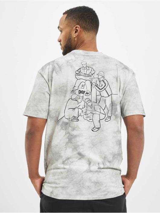 DEF Tričká Tie Dye Capsule šedá