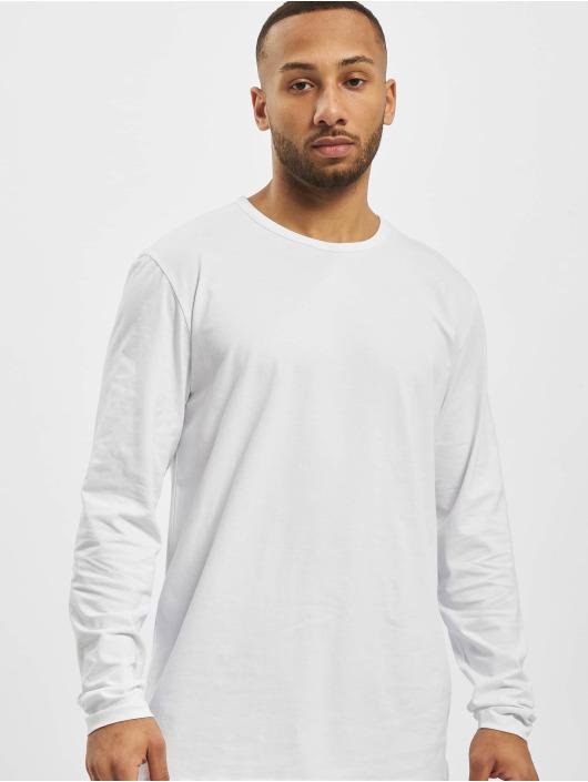 DEF Tričká dlhý rukáv Basic biela
