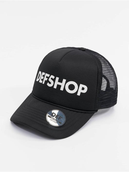DEF Trucker Caps Logo czarny