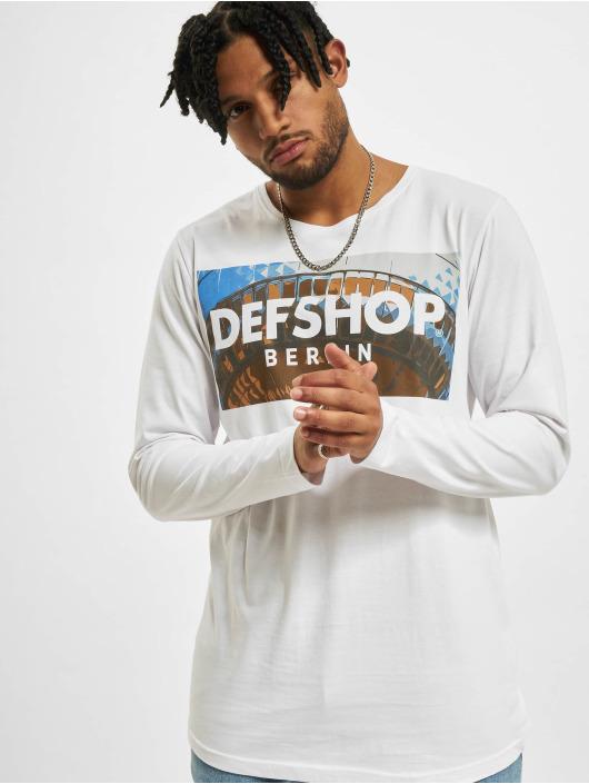 DefShop Tričká dlhý rukáv MERCH biela