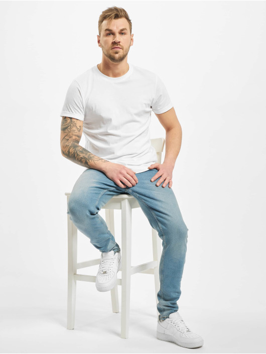 Denim Project Облегающие джинсы Mr. Red синий