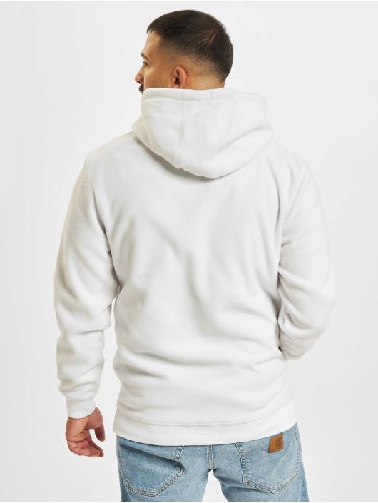 Denim Project Bluzy z kapturem Fleece Halp-Zip bialy