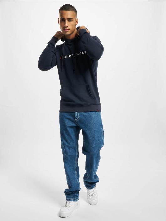 Denim Project Bluzy z kapturem Logo czarny