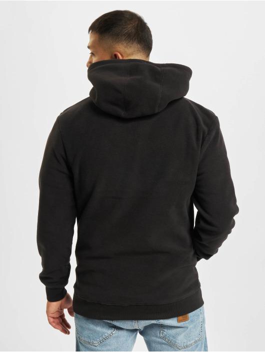 Denim Project Hoody Fleece Halp-Zip schwarz