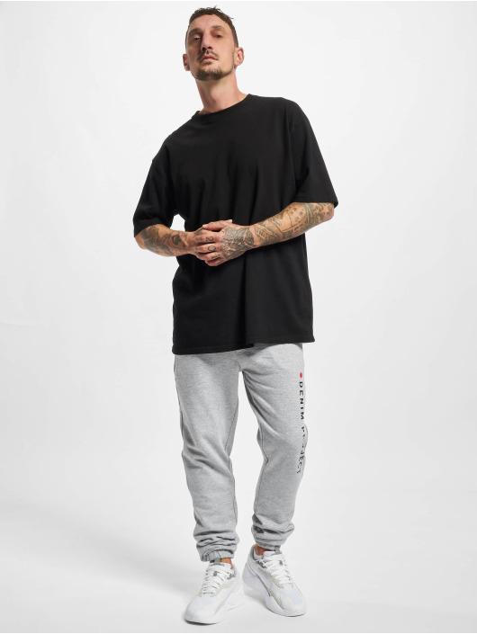 Denim Project Jogging kalhoty Logo šedá