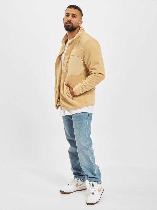 Denim Project Lightweight Jacket Fleece Zip beige