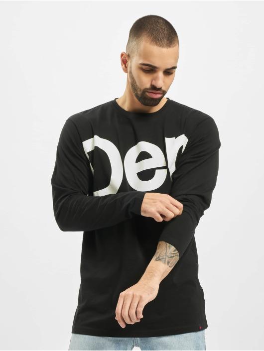 Denim Project Longsleeve DP Logo schwarz