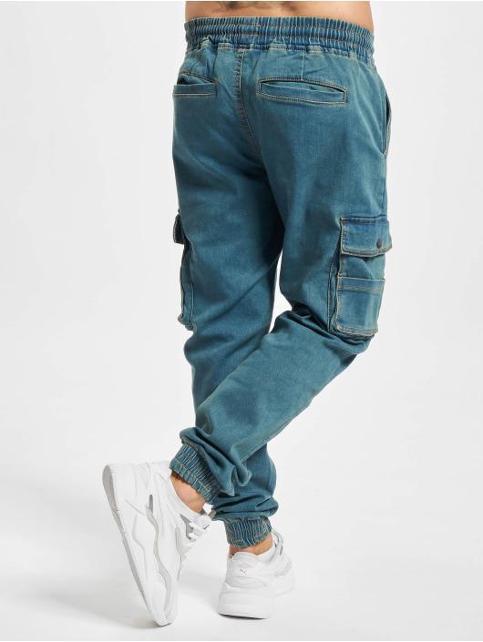 Denim Project Pantalon cargo DP Jogger bleu