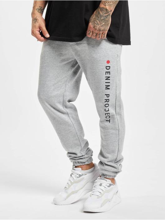 Denim Project Pantalón deportivo Logo gris