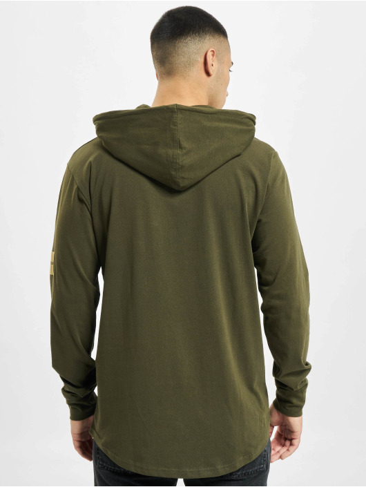 Denim Project Pitkähihaiset paidat Orlando Hoodie oliivi