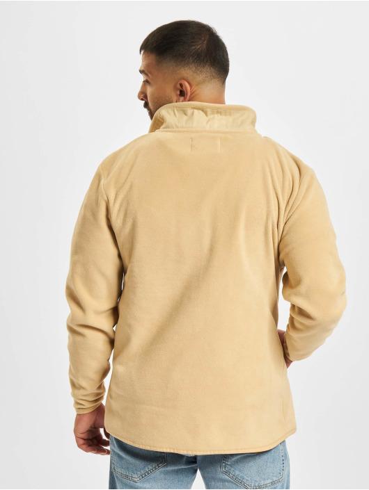 Denim Project Prechodné vetrovky Fleece Zip béžová