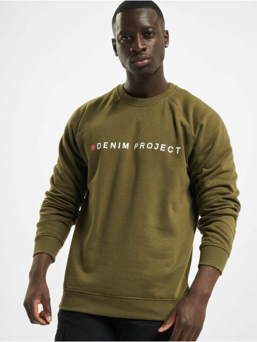 Denim Project Pulóvre Logo olivová
